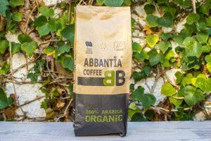 Café 100% arabico en grano, tueste natural Abbantia 1Kg
