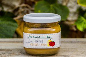 Compota 100% frutas Manzana y Mango de Gáldar 200g